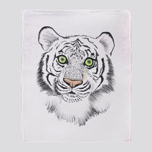 Colorful Tiger Throw Blanket