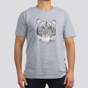 Colorful Tiger Men's Fitted T-Shirt (dark)