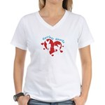 Women's V-Neck - White - Hairless Hearts