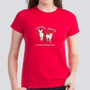 Tshirt- Teal, Red or Purple - Hairless Hearts