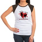 Women's Cap Sleeve- Red or Black - Hairless Hearts