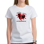Women's T-Shirt - White - Hairless Hearts