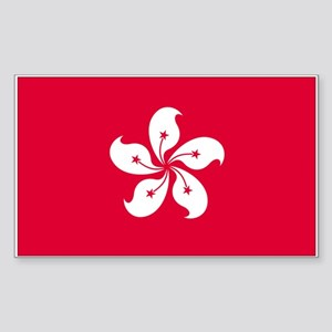 Hong-Kong Rectangle Sticker