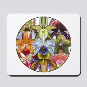 Orchid Collage Mousepad