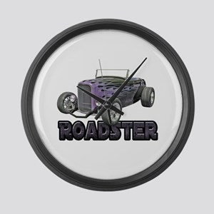 1932 Ford Roadster Grape Large Wall Clock