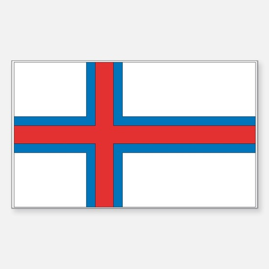 Faroe Islands Rectangle Decal