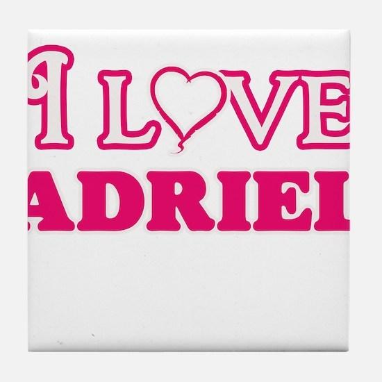 I Love Adriel Tile Coaster