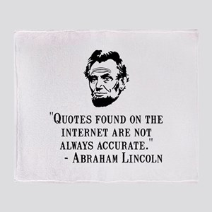 Lincoln Internet Throw Blanket