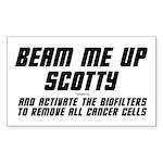Beam Me Up Scotty Rectangle Sticker