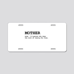 Mother Definition Aluminum License Plate