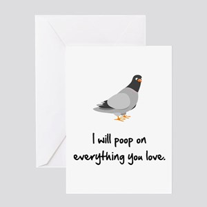 Poop On Love Greeting Card