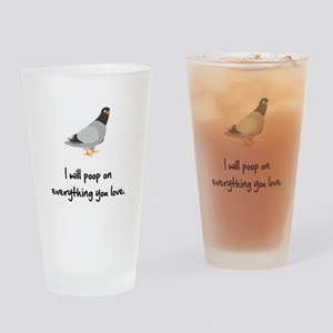 Poop On Love Drinking Glass