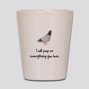 Poop On Love Shot Glass