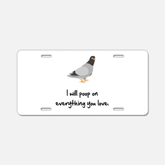 Poop On Love Aluminum License Plate