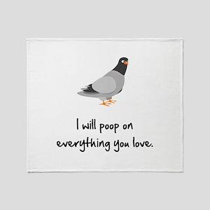 Poop On Love Throw Blanket