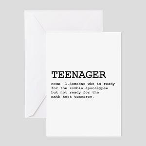 Teenager Greeting Card