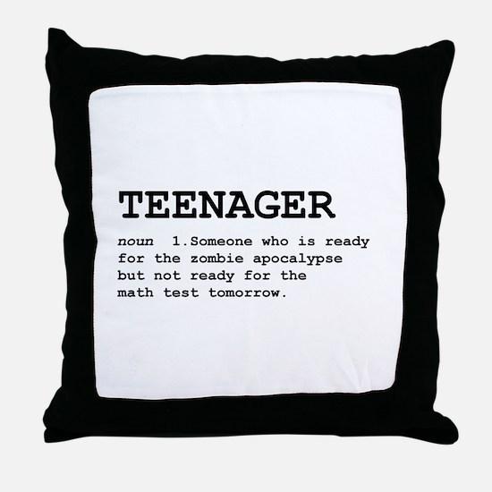 Teenager Throw Pillow