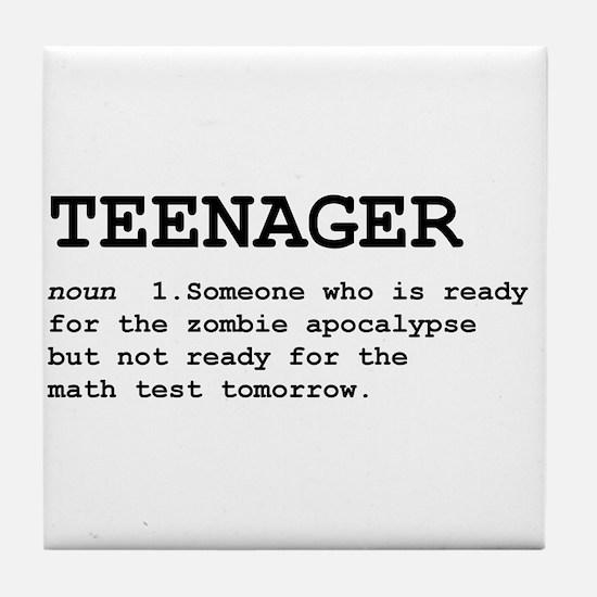 Teenager Tile Coaster