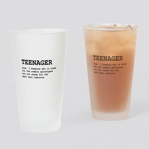 Teenager Drinking Glass
