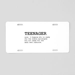 Teenager Aluminum License Plate