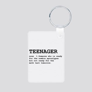 Teenager Aluminum Photo Keychain