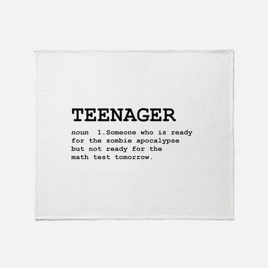 Teenager Throw Blanket