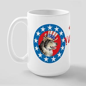 Patriotic Malemute Large Mug