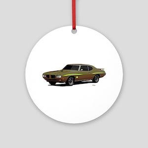 1970 GTO Judge Granada Gold Ornament (Round)