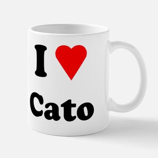 I Heart Love Cato Mug