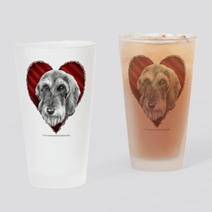 Wire-haired Dachshund Valenti Drinking Glass
