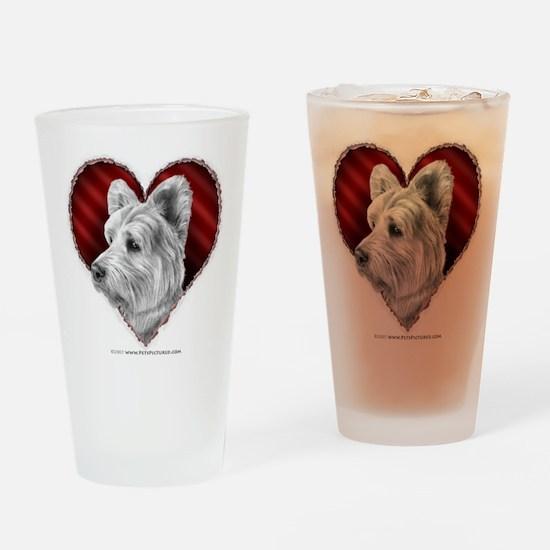 Westie Valentine Drinking Glass