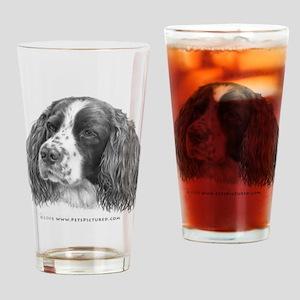 Sebastian, Springer Spaniel Drinking Glass