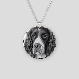 English Springer Spaniel Necklace Circle Charm