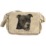 Roxy, Pit Bull Terrier Messenger Bag