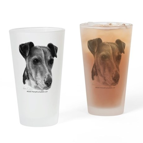 Smooth Fox Terrier Drinking Glass