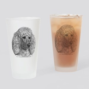 Holly, Standard Poodle Drinking Glass