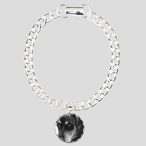 Rottweiler Lab Mix Charm Bracelet, One Charm
