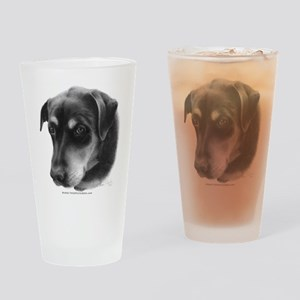 Rottweiler Lab Mix Drinking Glass