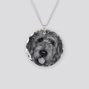 Labradoodle Necklace Circle Charm
