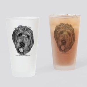 Labradoodle Drinking Glass