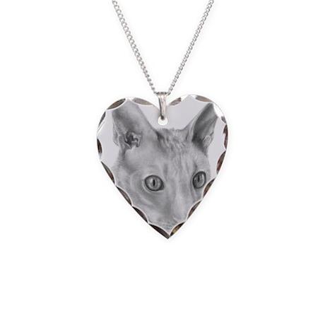 Cornish Rex Cat Necklace Heart Charm