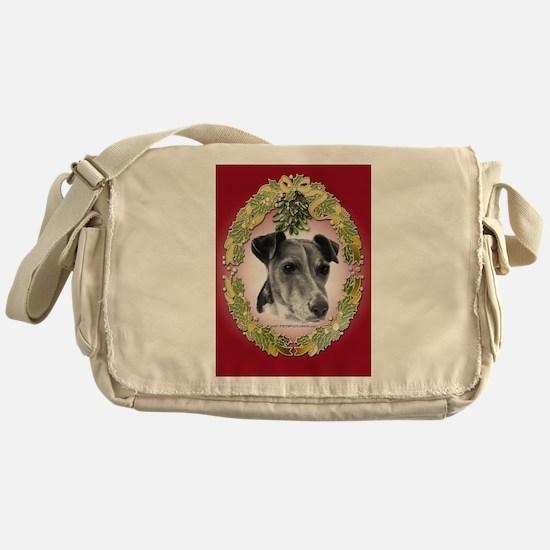 Fox Terrier Christmas Messenger Bag