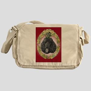 Poodle Christmas Messenger Bag