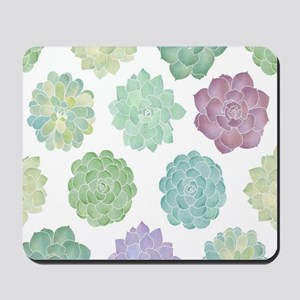 Watercolor Succulent Garden Mousepad