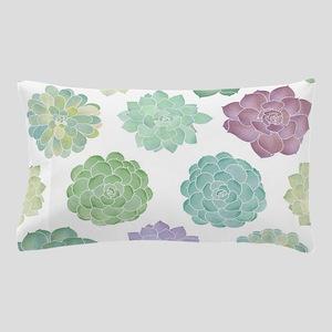 Watercolor Succulent Garden Pillow Case
