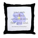 Feed Your Soul Throw Pillow