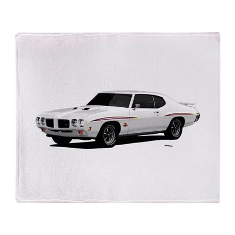 1970 GTO Judge Polar White Throw Blanket