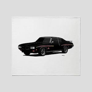 1970 GTO Judge Starlight Black Throw Blanket