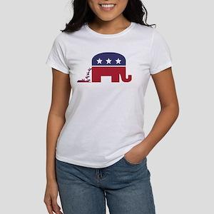 Elephant Pooing Donkey Women's T-Shirt