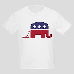 Elephant Pooing Donkey Kids Light T-Shirt